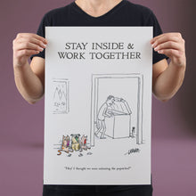Load image into Gallery viewer, Stay Inside & Work Together - Set of 10 Posters