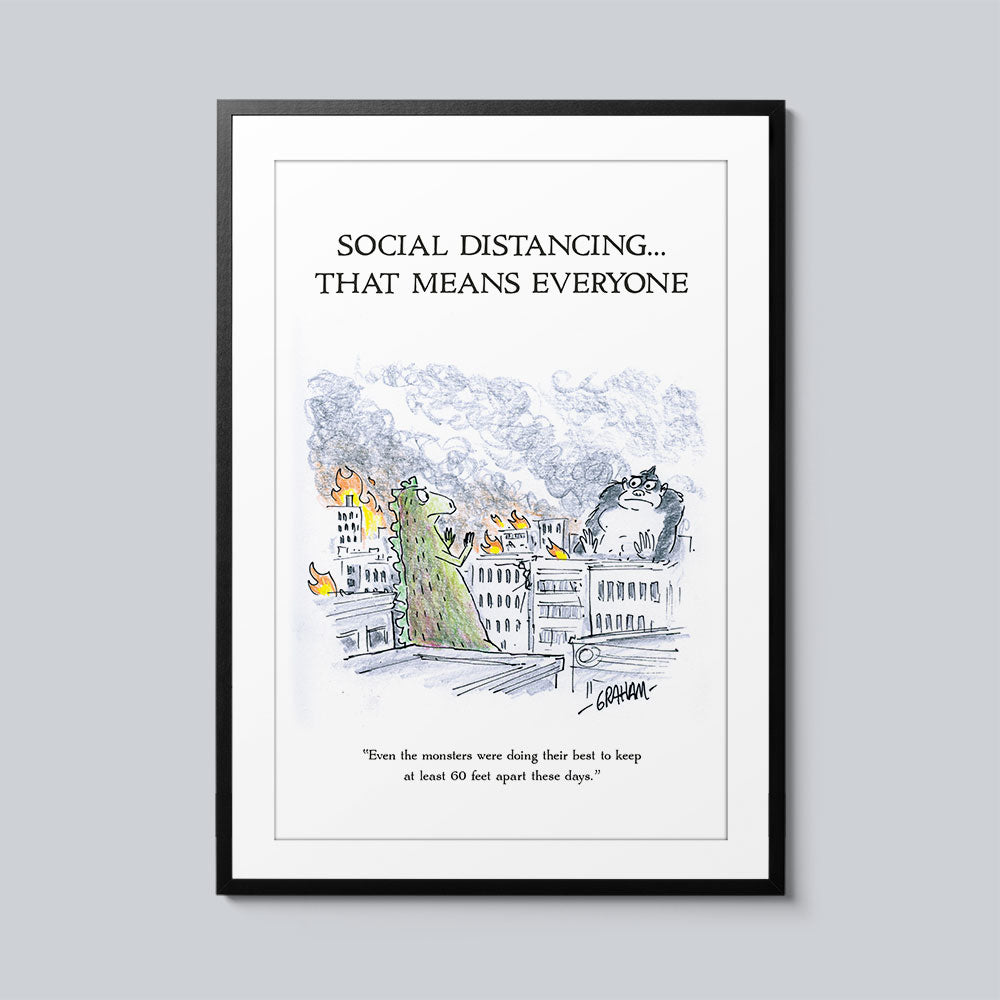 Social Distancing... That Means Everyone - Set of 10 Posters