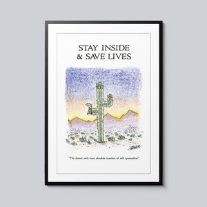 Stay Inside & Save Lives - Set of 10 Posters