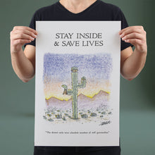Load image into Gallery viewer, Stay Inside & Save Lives - Set of 10 Posters