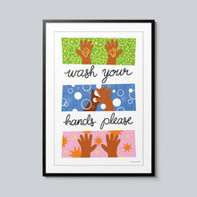 Load image into Gallery viewer, Wash Your Hands Please - Set of 10 Posters