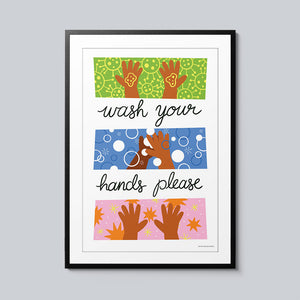 Wash Your Hands Please - Set of 10 Posters