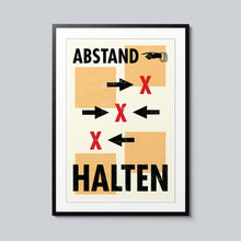 Load image into Gallery viewer, Abstand Halten - Set of 10 Posters