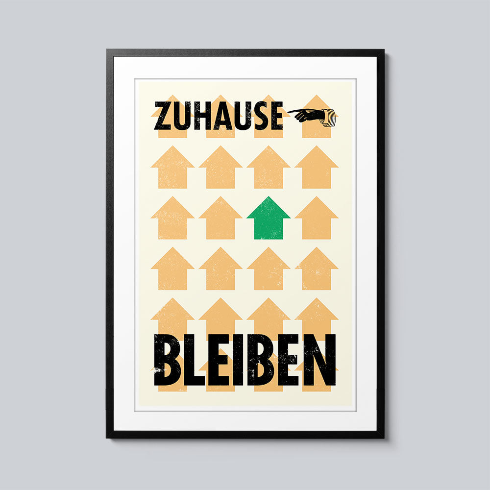 Zuhause Bleiben - Set of 10 Posters