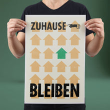 Load image into Gallery viewer, Zuhause Bleiben - Set of 10 Posters