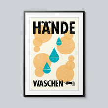 Load image into Gallery viewer, Hände Waschen - Set of 10 Posters