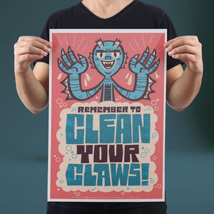 Clean Your Claws - Set of 10 Posters