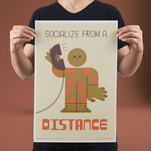 Socialize from a Distance - Set of 10 Posters