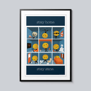 Stay Home, Stay Sane - Set of 10 Posters
