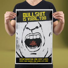 Load image into Gallery viewer, Bullshit is Viral - Set of 10 Posters