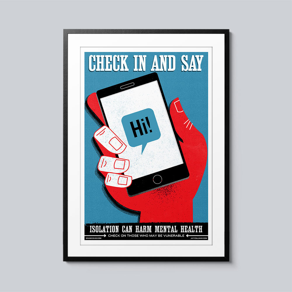 Check In and Say Hi - Set of 10 Posters