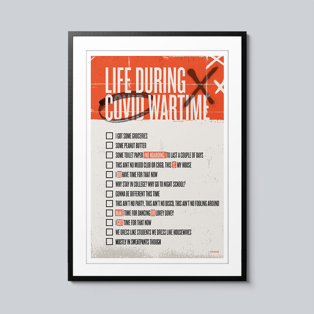 Life During Covid Wartime - Set of 10 Posters
