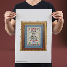 Load image into Gallery viewer, Stay The F*** Home (Cream) - Set of 10 Posters