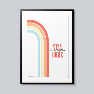 Stay Home, Alone Together - Set of 10 Posters