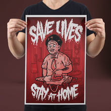 Load image into Gallery viewer, Save Lives (Chainsaw) - Set of 10 Posters