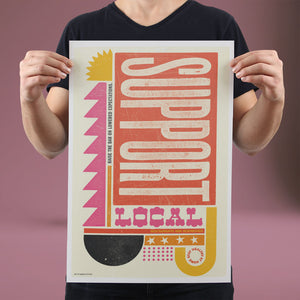 Support Local - Set of 10 Posters