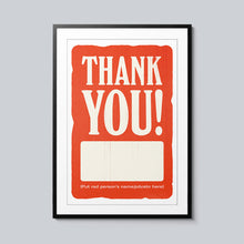 Load image into Gallery viewer, Thank You Blank - Set of 10 Posters