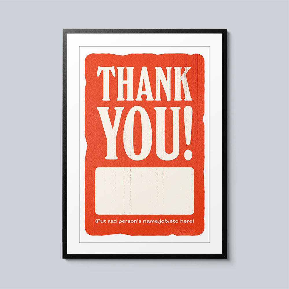 Thank You Blank - Set of 10 Posters