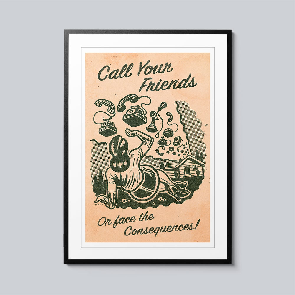 Call Your Friends - Set of 10 Posters