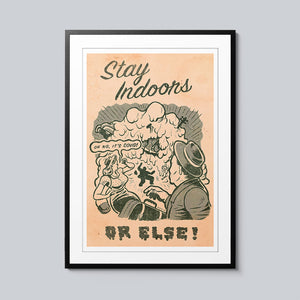 Stay Inside - Set of 10 Posters