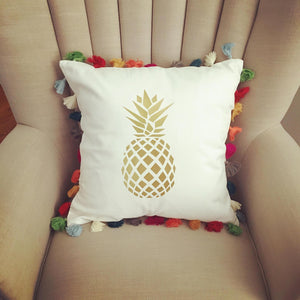 Pineapple Tassel Pillow