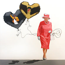 "Load image into Gallery viewer, Queen of Hearts | 39"" x 39"""