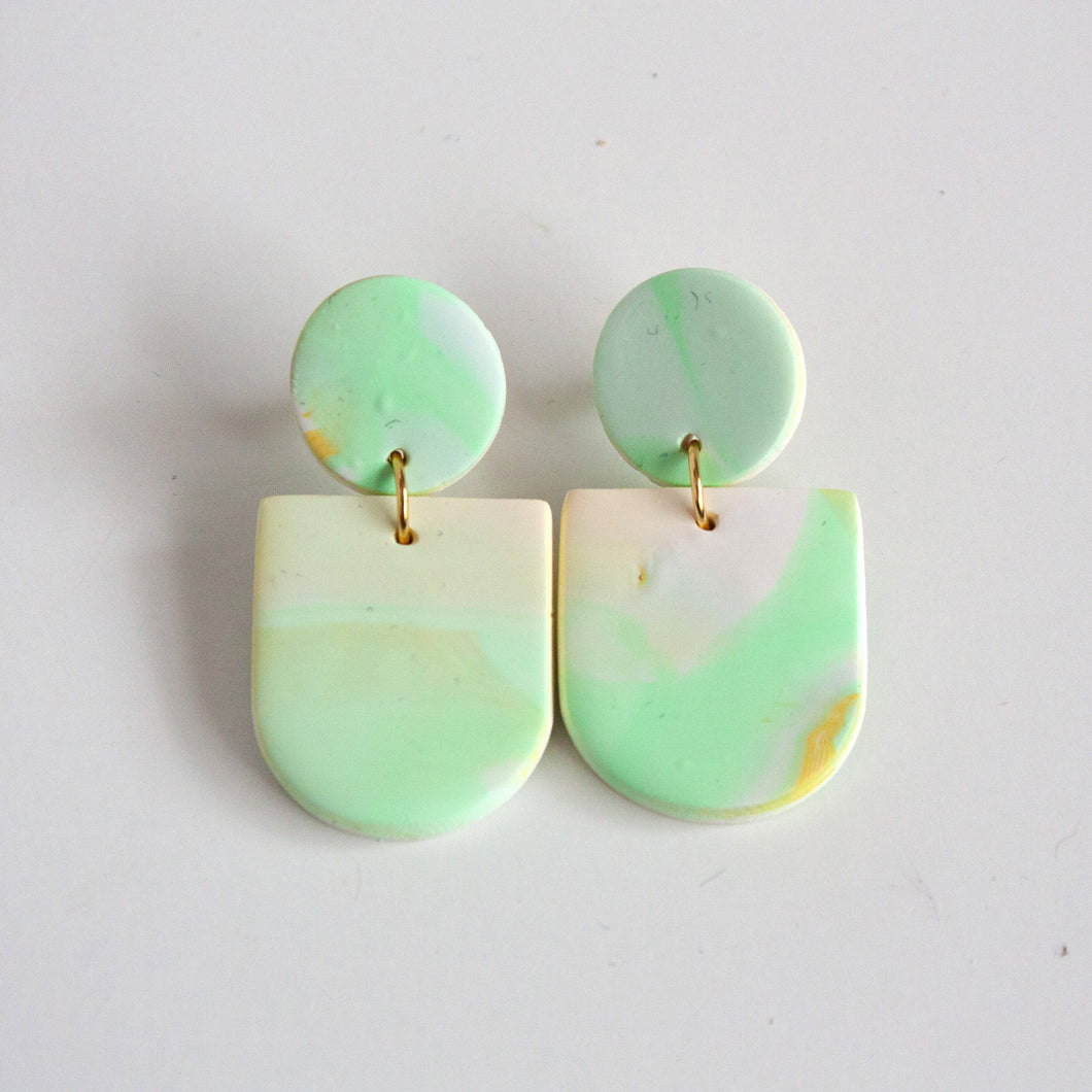 Pearled Aqua Earrings