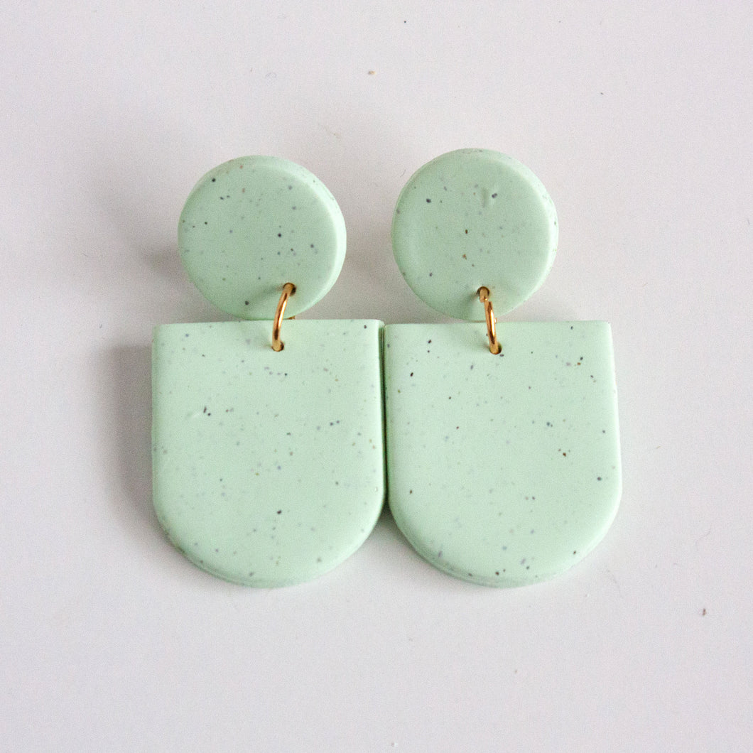 Speckled Aqua Earrings