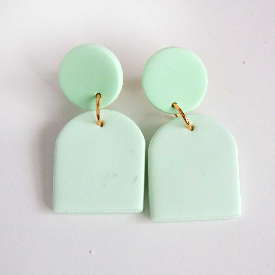 Crop Aqua Earrings