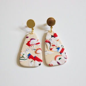 Bedford Print Foliage Earrings