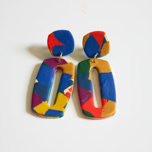 Royal Color Block Earrings