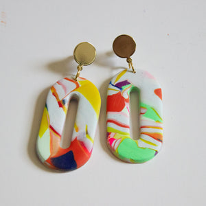 Art Oval Earrings