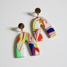 Load image into Gallery viewer, Neon Art Arch Earrings