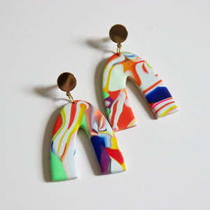 Neon Art Arch Earrings