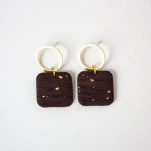 Load image into Gallery viewer, Brown / Brass / Gold Earrings
