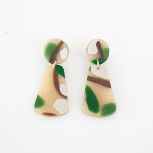 Earth Tone Drop Earrings