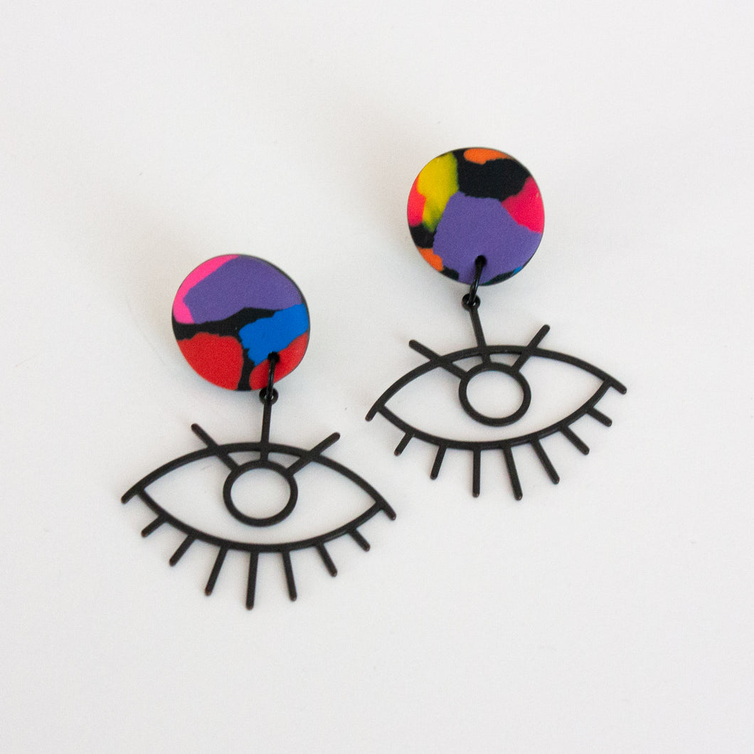 Rainbow // Noir Eye Earrings