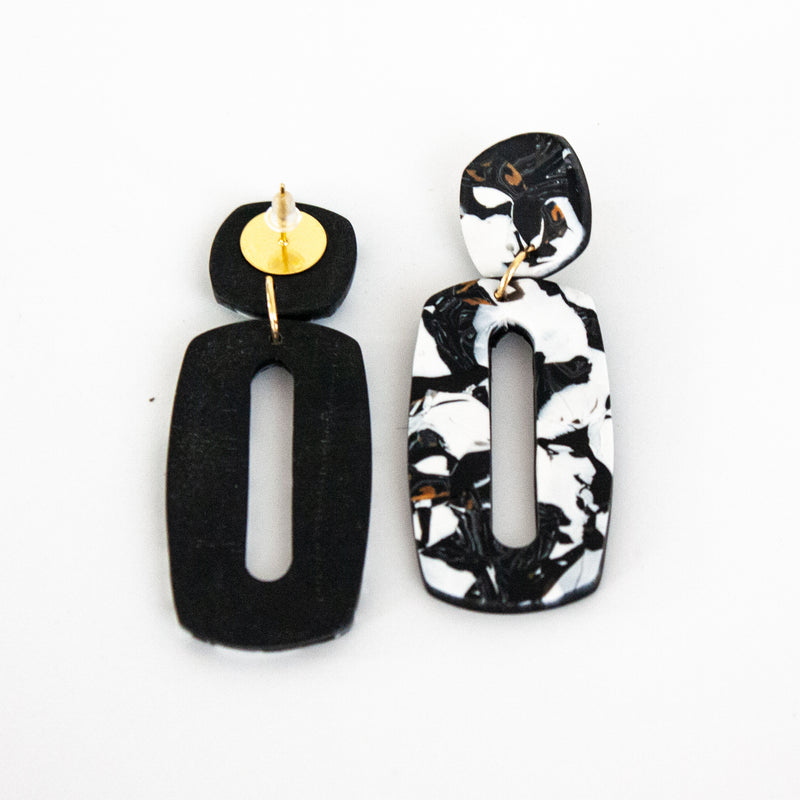Ava Black Hanover Earrings