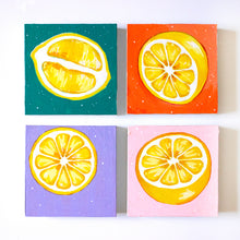 "Load image into Gallery viewer, Lemon Half II | 5"" x 5"""