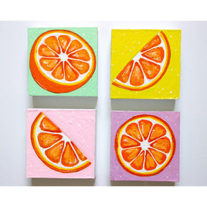 "Orange Slice II | 4"" x 4"""