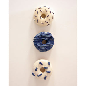 "Cool Blue Donut Set | 4"" donuts"