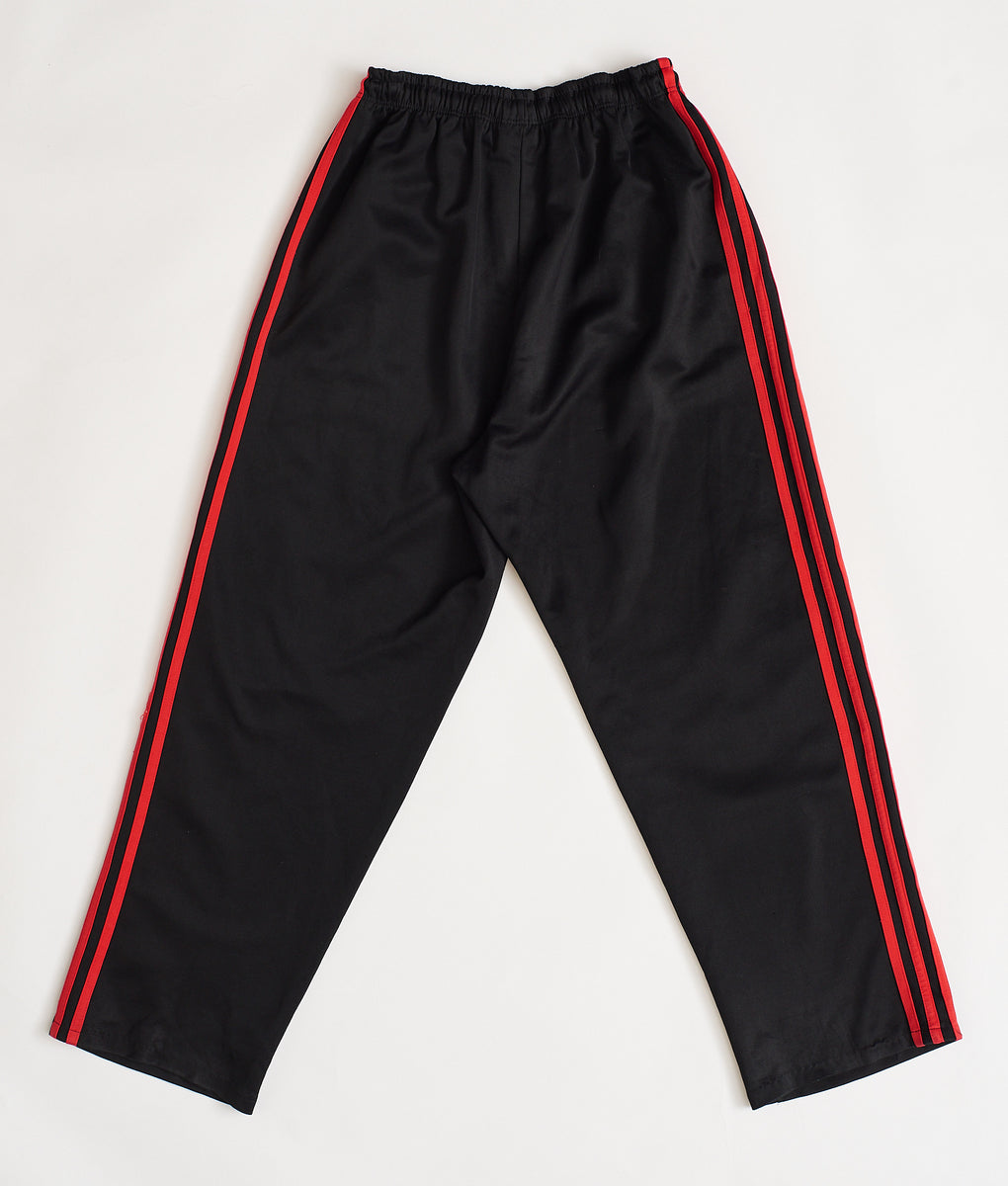 Adidas 3-Stripe Track Pants Red/Blk (L) - FROTHLYF