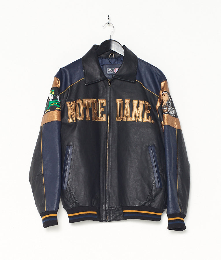 NOTRE DAME LEATHER BOMBER (M)