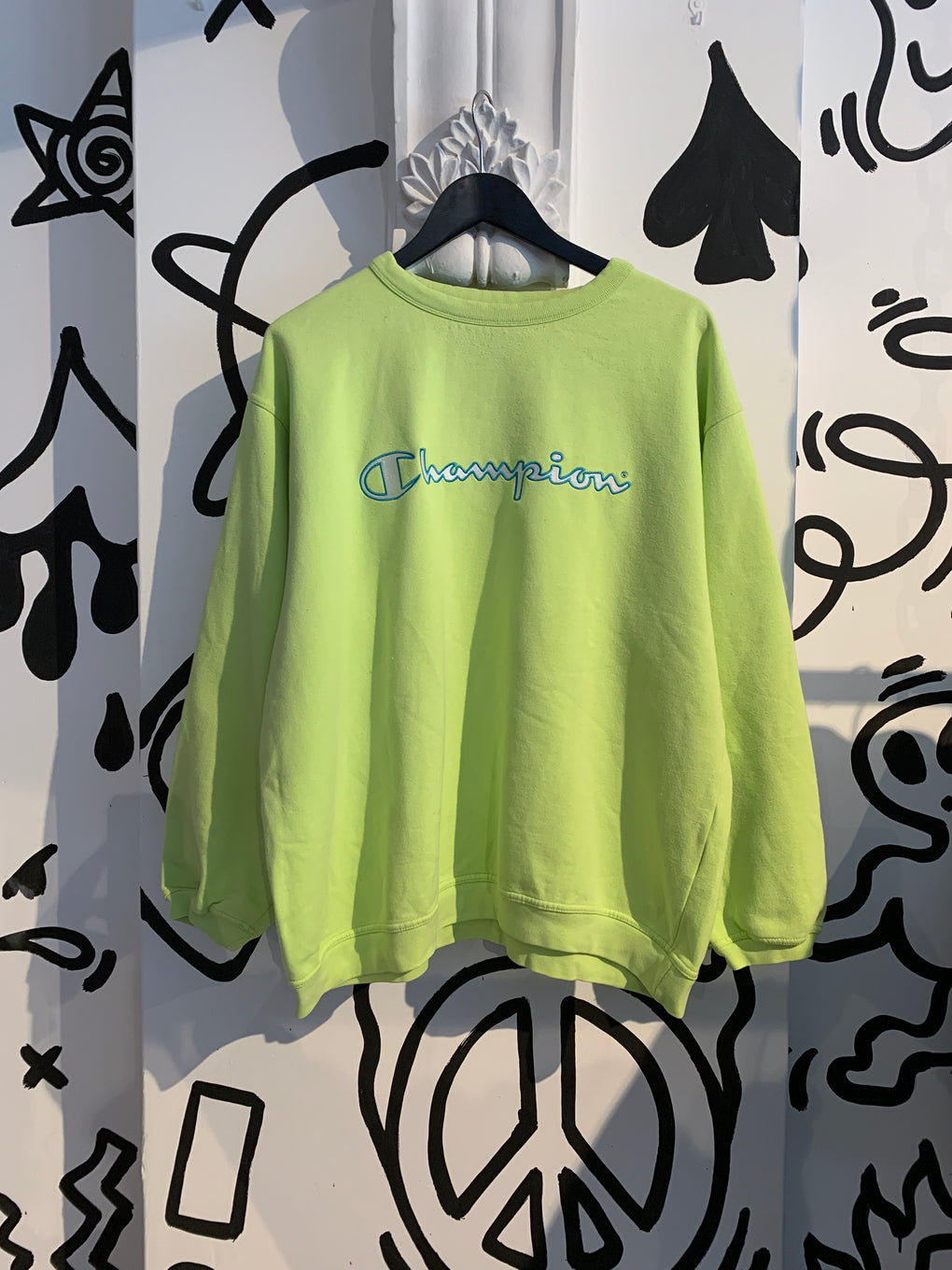 90s CHAMPION LIME GREEN SWEAT