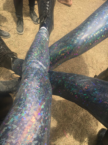 Disco Tights ~ Silver - FROTHLYF