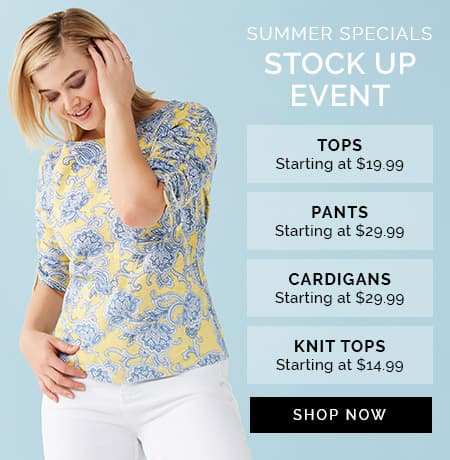 SUMMER SPECIALS STOCK UP EVENT - Shop Now
