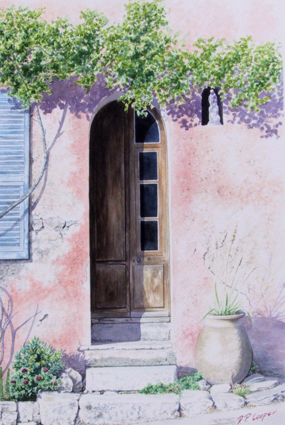 CHATEAUNEUF DOOR - ORIGINAL PAINTING