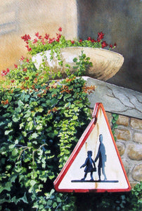 CHILDREN CROSSING - ORIGINAL PAINTING