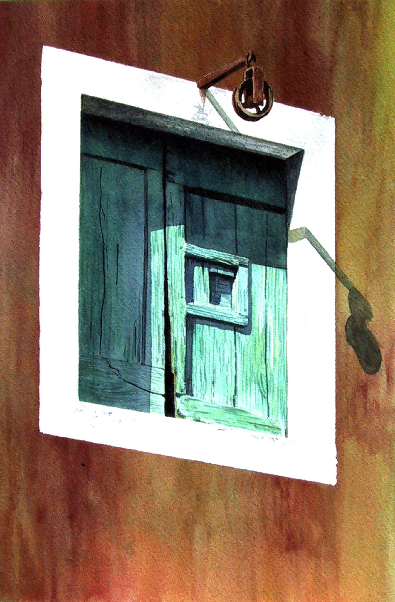 GREEN SHUTTERS - ORIGINAL PAINTING