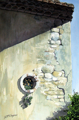ROUND WINDOW - ORIGINAL PAINTING